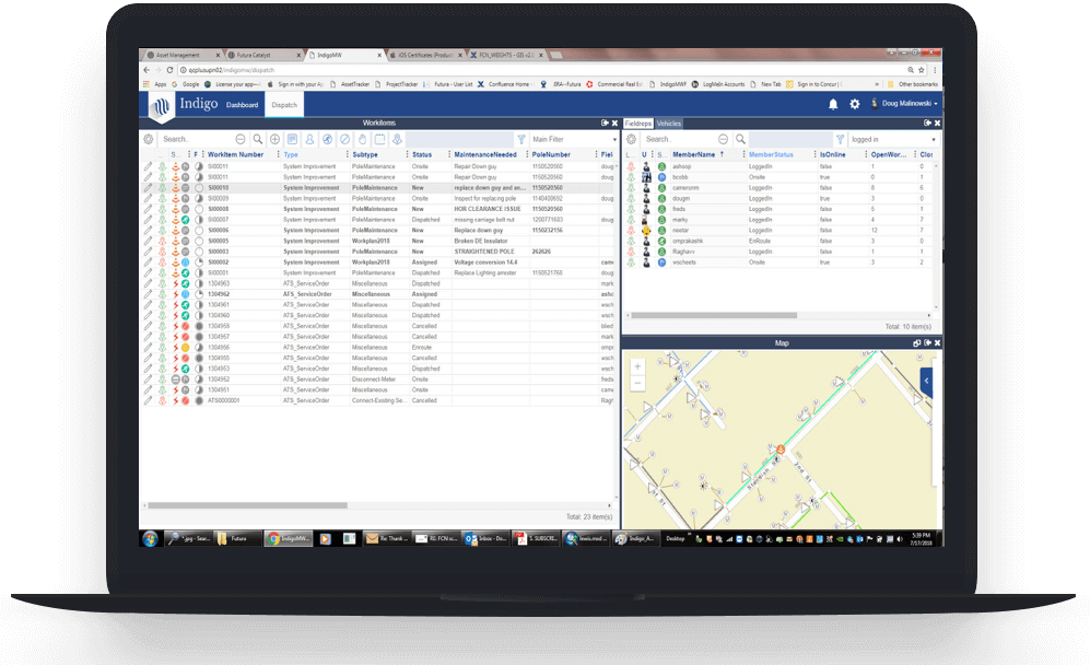 futura producet asset management utilities gis software